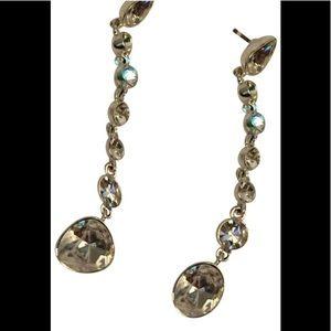 Givenchy Dangle Rhinestone Earrings